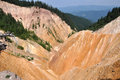 Ravine open pit in the mountains Stock Photography
