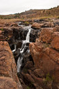Ravine waterfall small river plummeting to a deep in blyde canyon south africa Stock Photos