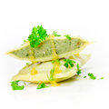 Ravioli stuffed with parsley close up Stock Photos