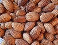 Raw almonds macro photo of natural Stock Photo