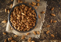 Raw Almonds Royalty Free Stock Photo