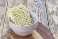 Raw Asian Noodles in Bowl Royalty Free Stock Photo