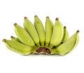 Raw banana on white background bunch of isolated Stock Image