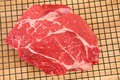 Raw Beef in Kitchen Royalty Free Stock Photos