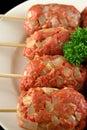Raw Beef Kofta 3 Royalty Free Stock Image