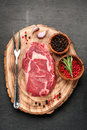 Raw beef steak Ribeye Royalty Free Stock Photo