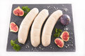 Raw bratwurst sausage Royalty Free Stock Photo