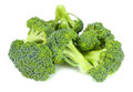 Raw broccoli  on white background Royalty Free Stock Photo