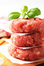 Raw burgers Stock Photo
