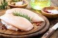Raw chicken breast Royalty Free Stock Photo