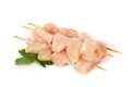 Raw chicken fillets on white background Stock Photos
