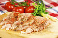 Raw chicken meat with vegetables Stock Images
