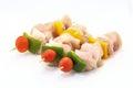 Raw Chicken Shish Kebab Royalty Free Stock Photo
