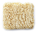 Raw chinese noodles on white background Royalty Free Stock Image