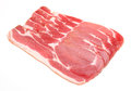 Raw dry cured back bacon Royalty Free Stock Photos
