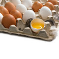 Raw eggs in the tray Royalty Free Stock Photos