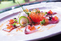 raw fish appetiser Royalty Free Stock Photo
