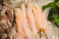 Raw fish meat on ice seamarket Royalty Free Stock Photo