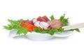 Raw fish salad japanese sashimi