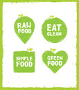 Raw Food Eat Clean Nutrition Detox Vector Concept. Eco Green Design Elements On Rust Background. Royalty Free Stock Photo
