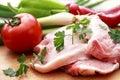Raw fresh pork meat Stock Image