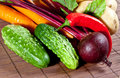 Raw fresh vegetables Stock Photos