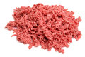 Raw ground beef mince on white Royalty Free Stock Image