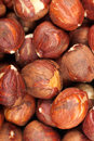 Raw hazelnuts healthy food organic nutrition as background or texture Royalty Free Stock Image