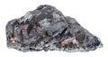Raw hematite iron ore stone isolated