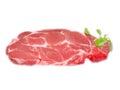 Raw lean pork cut into slices Royalty Free Stock Photos