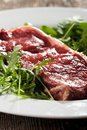 Raw loin steak Royalty Free Stock Photos