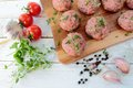 Raw meat balls Royalty Free Stock Photo