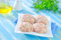 Raw meat balls on a table Royalty Free Stock Photography