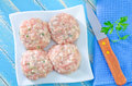 Raw meat balls on a table Royalty Free Stock Photo