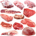 Raw meat collection Royalty Free Stock Photo