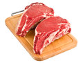 Raw meat isolated Stock Image
