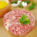 Raw Meatball with Parsley Stock Image