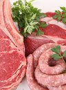 Raw meats Stock Photo