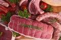 Raw meats Royalty Free Stock Photo