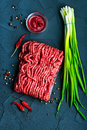 Raw minced meat Royalty Free Stock Photo