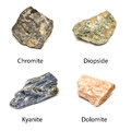 Raw minerals Royalty Free Stock Photos