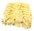 Raw noodles over white background Royalty Free Stock Photography
