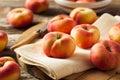 Raw Organic Donut Saturn Peaches Royalty Free Stock Photo