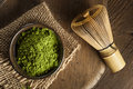 Raw Organic Green Matcha Tea Royalty Free Stock Photo