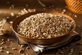 Raw organic hulled sunflower seeds in a bowl Royalty Free Stock Photo