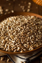 Raw organic hulled sunflower seeds in a bowl Royalty Free Stock Image