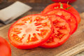 Raw Organic Red Beefsteak Tomatoes Royalty Free Stock Photo