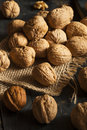 Raw organic whole walnuts ready to eat Stock Image