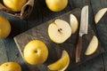 Raw Organic Yellow Asian Apple Pears Royalty Free Stock Photo