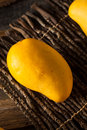 Raw organic yellow mangos ready to eat Royalty Free Stock Images
